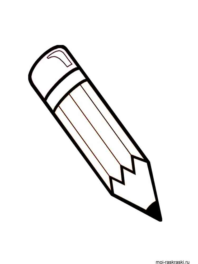 Pencil coloring pages. Download and print Pencil coloring