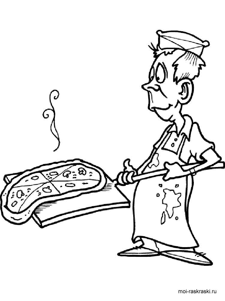 Pizza coloring pages. Free Printable Pizza coloring pages.