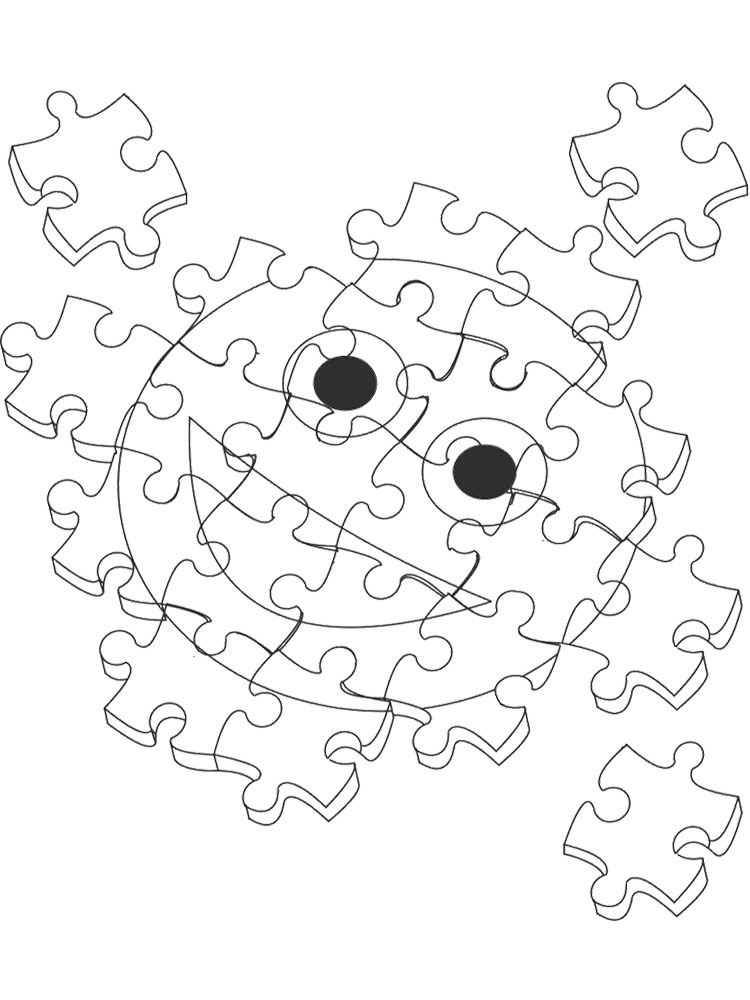 puzzle coloring pages. download and print puzzle coloring