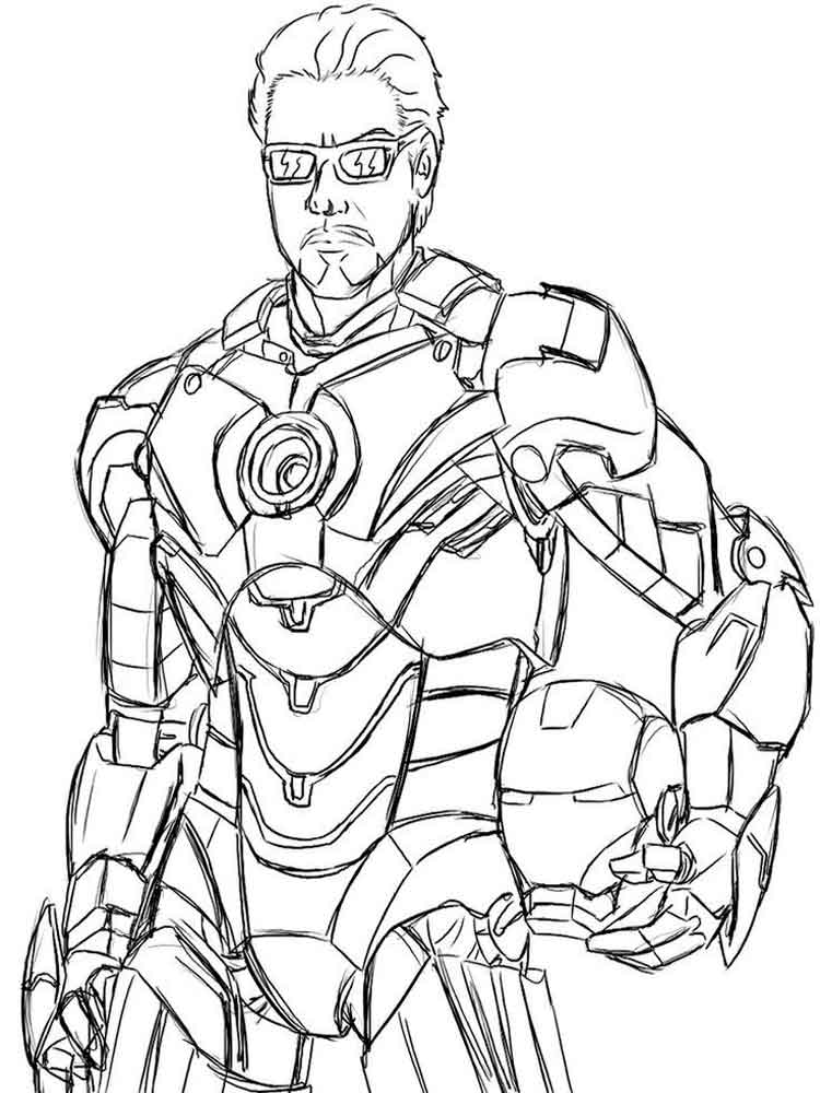 War Machine coloring pages. Free Printable War Machine