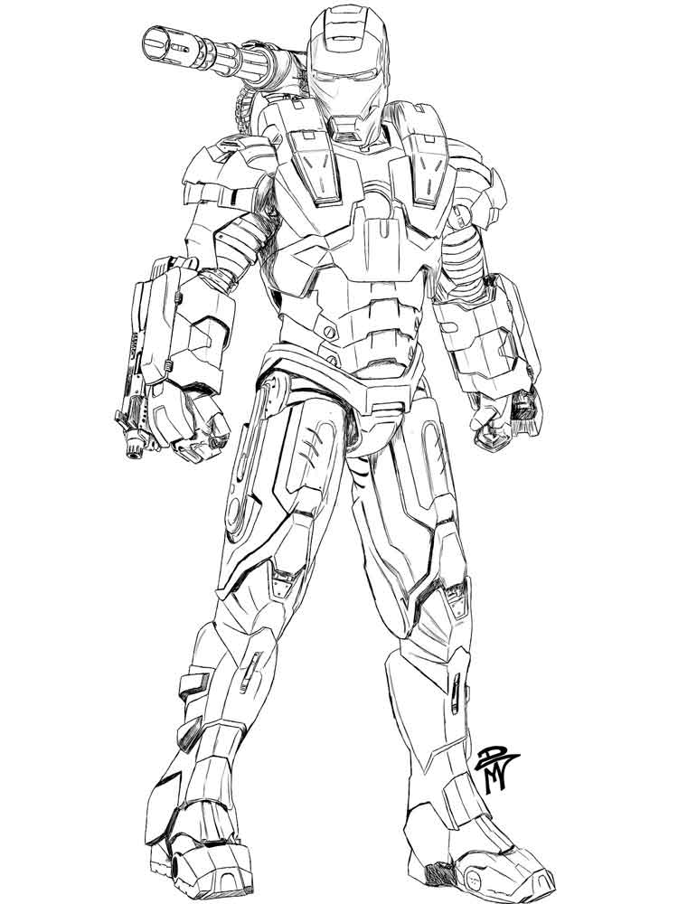 How To Draw War Machine : machine, Machine, Coloring, Pages., Printable