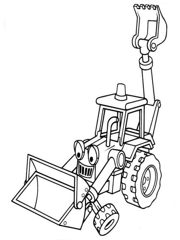 Construction Vehicles coloring pages. Download and print