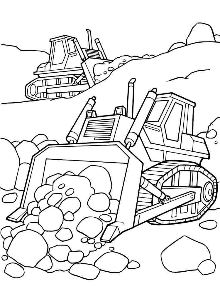 Construction Vehicle Sheet Coloring Pages