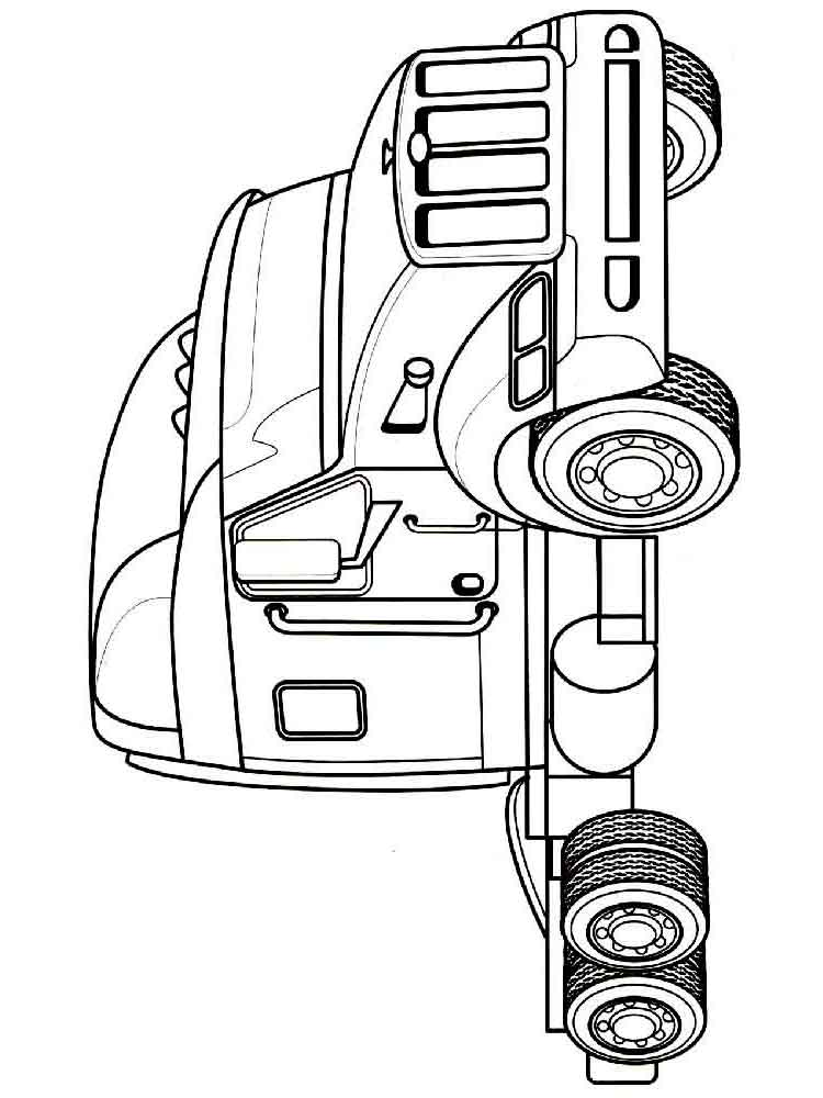 Truck coloring pages. Download and print tuck coloring pages