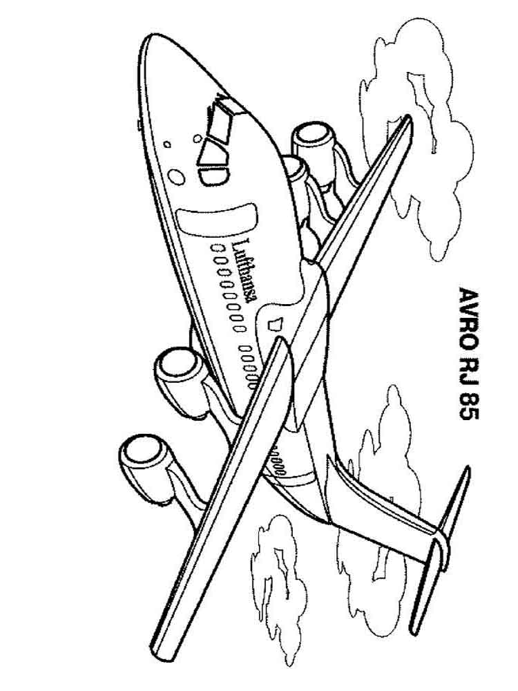 Airplanes coloring pages. Download and print airplanes