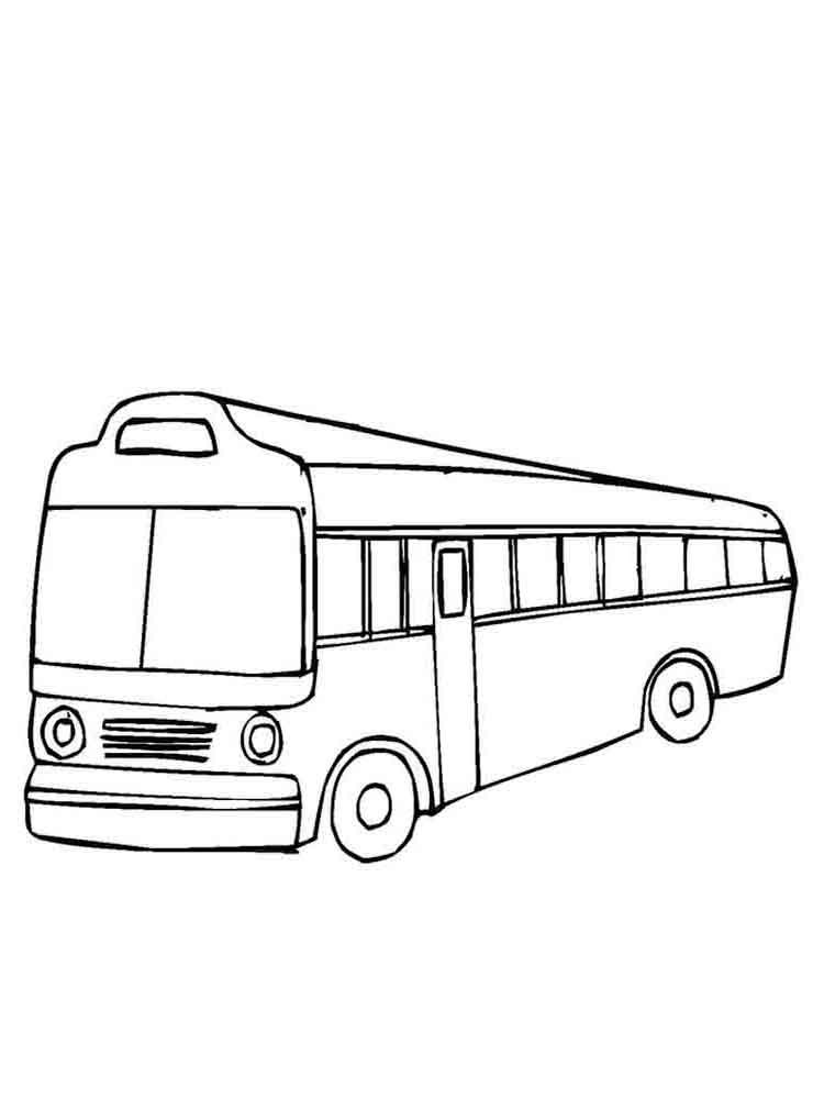 Buses coloring pages. Download and print buses coloring pages