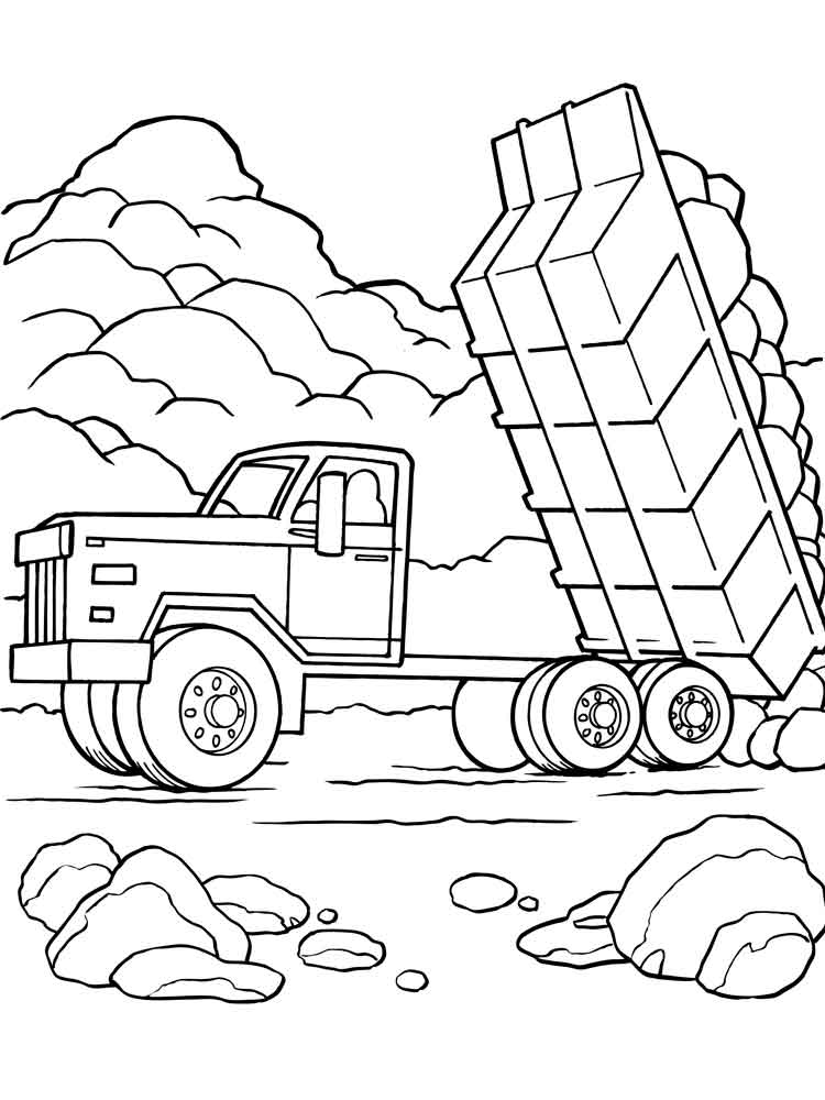 Dump Truck coloring pages. Free Printable Dump Truck