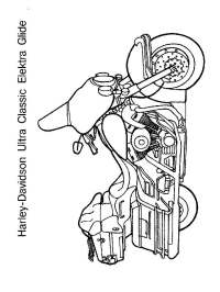 Harley Davidson coloring pages. Free Printable Harley
