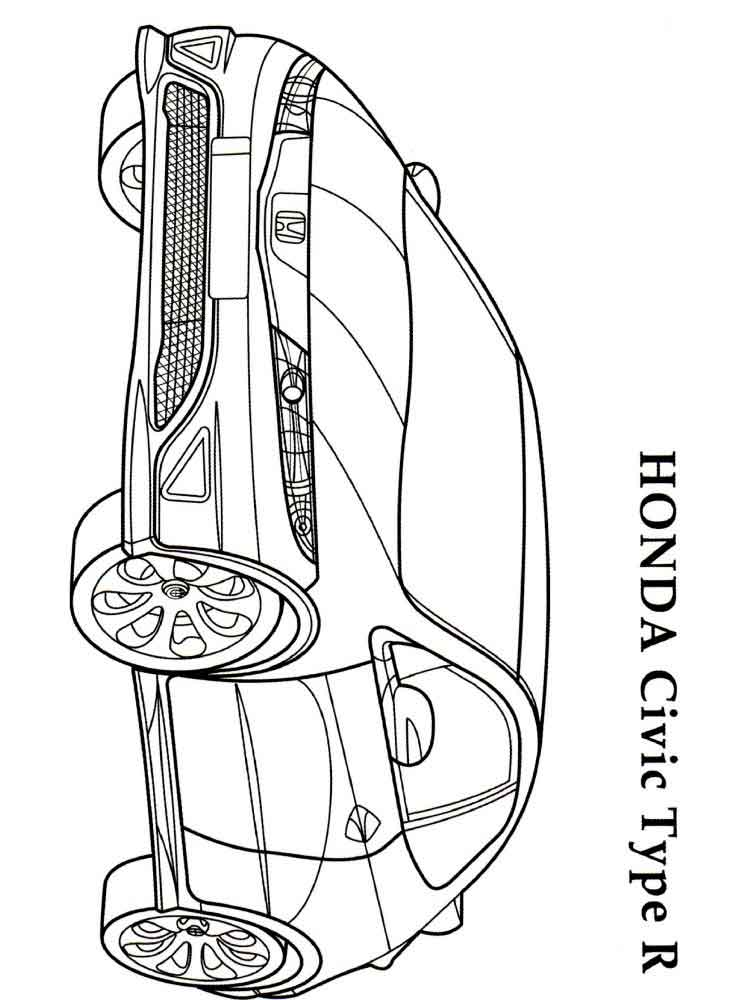 Honda coloring pages. Free Printable Honda coloring pages.