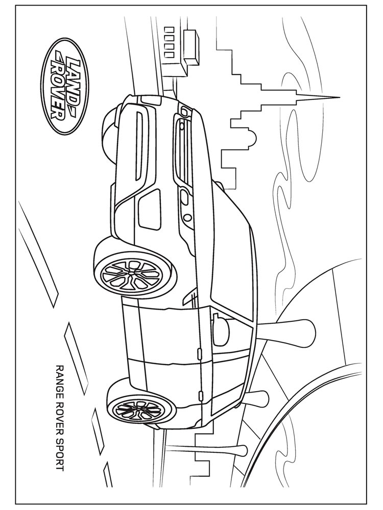 Land Rover coloring pages. Free Printable Land Rover