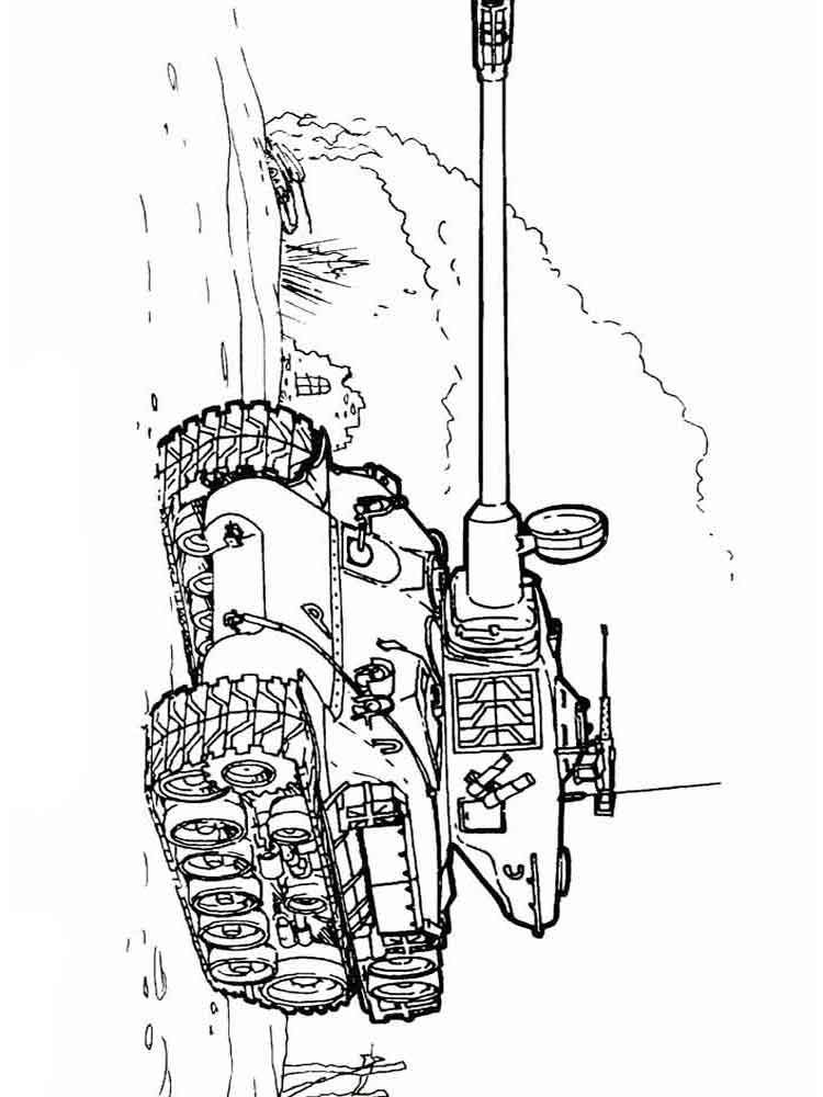 Army Tanks coloring pages. Download and print Army Tanks