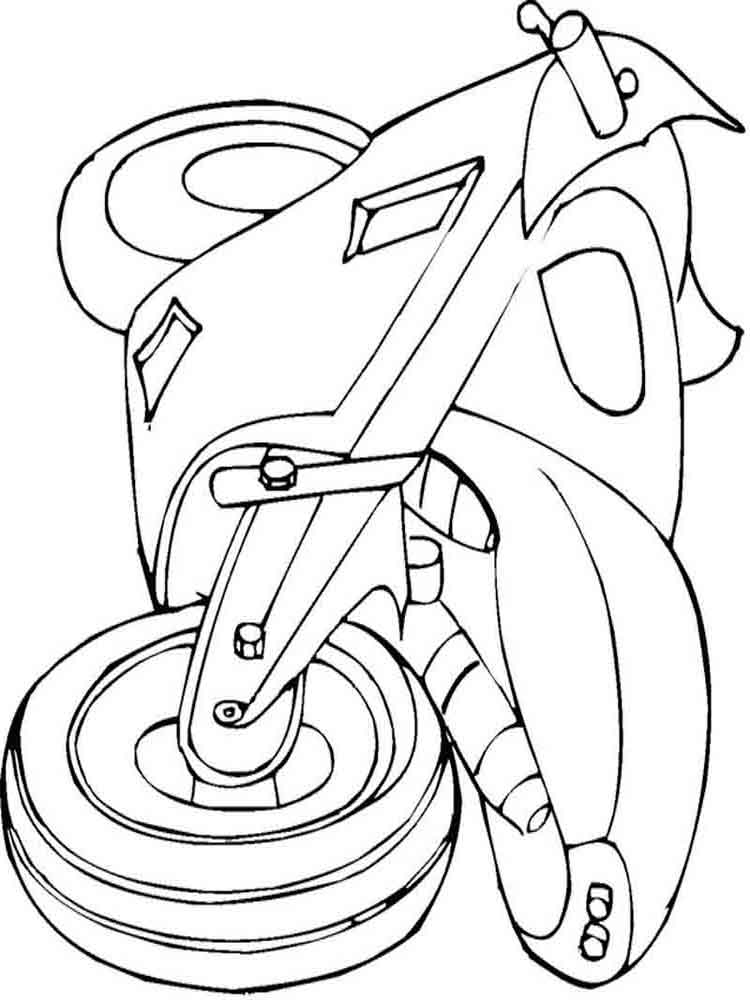 Motorcycle Coloring Pages 19