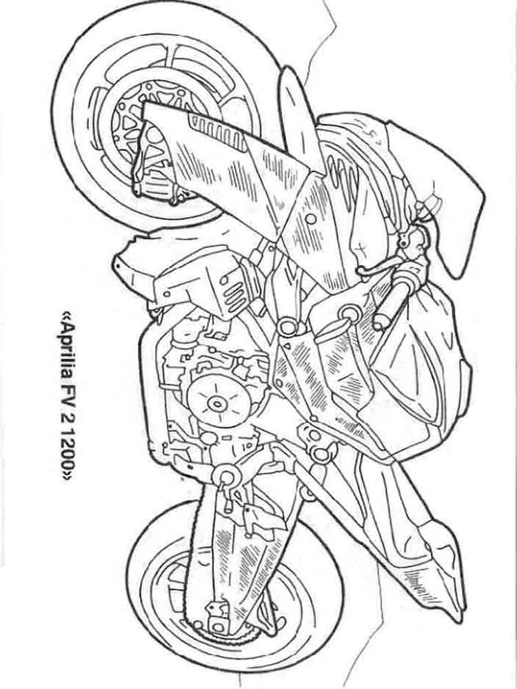 Motorcycles coloring pages. Download and print motorcycles