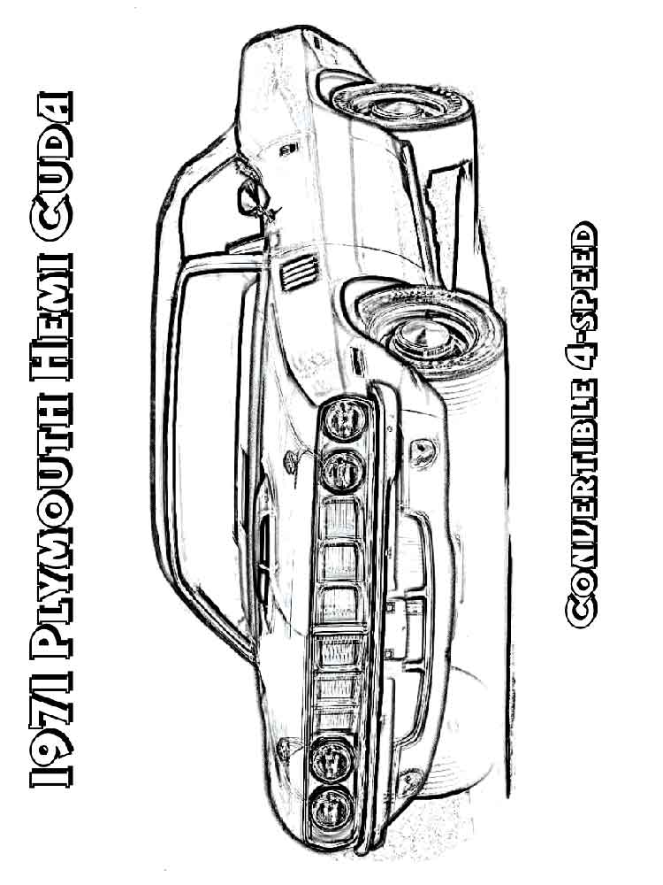 muscle car coloring pages. free printable muscle car