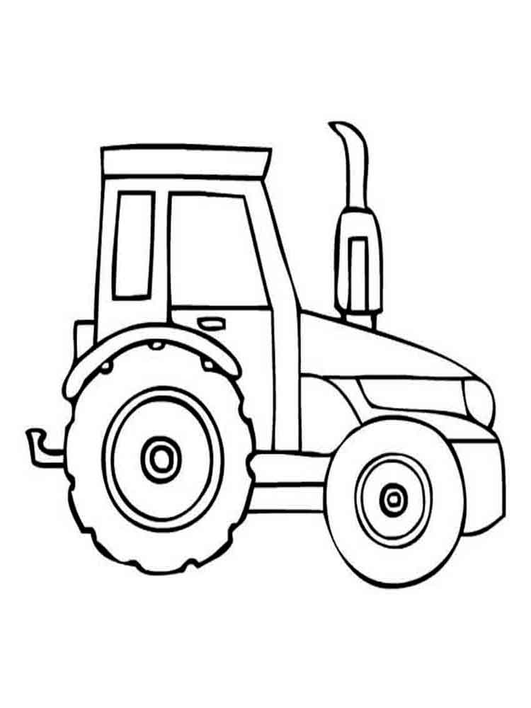 Tractor coloring pages. Download and print Tractor