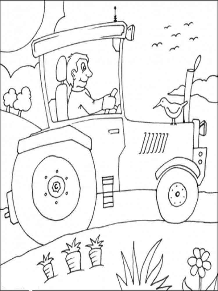 Modern Tractor Coloring Page