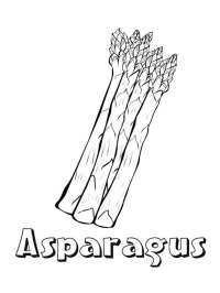 √ Asparagus Coloring Page | Free coloring pages of asparagus