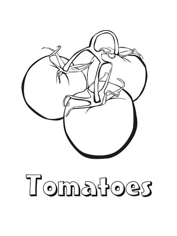 Tomato coloring pages. Download and print Tomato coloring