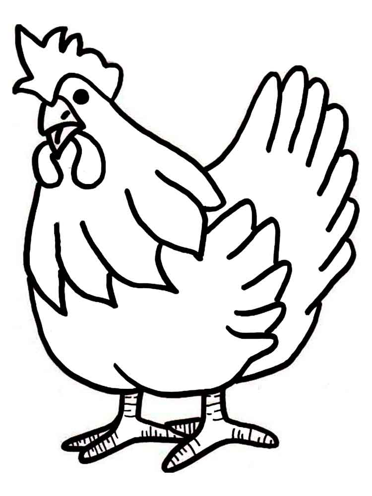 Chicken coloring pages. Download and print Chicken