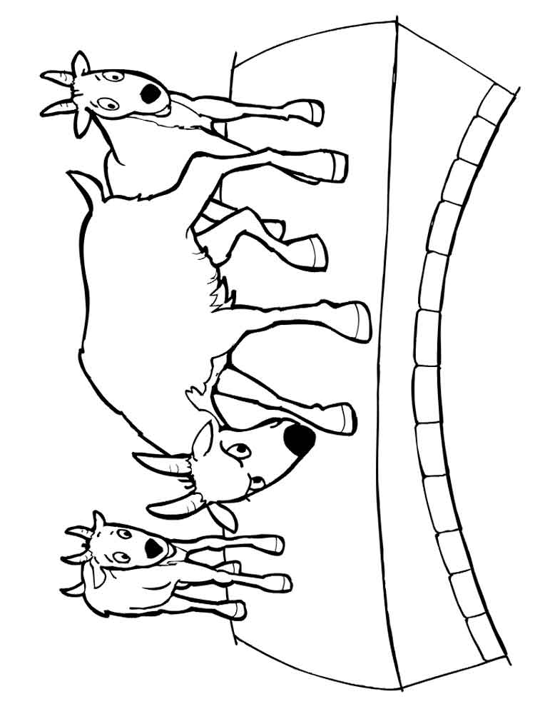 Goat coloring pages. Download and print goat coloring pages