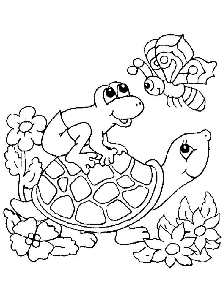 Turtles coloring pages. Download and print turtles