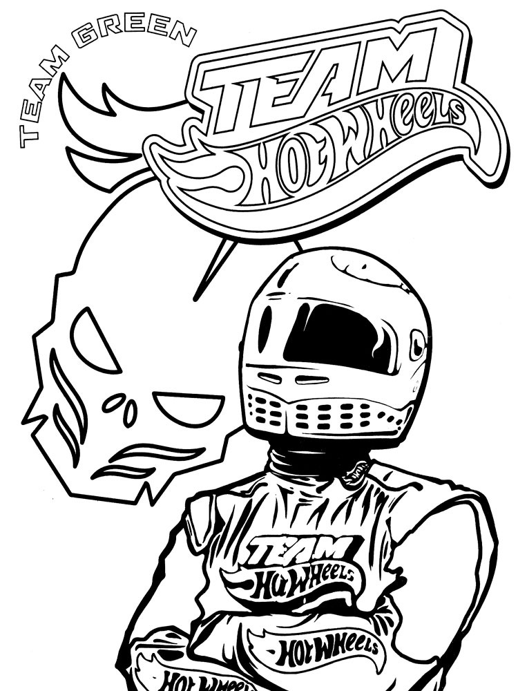 Hot Wheels coloring pages. Download and print Hot Wheels