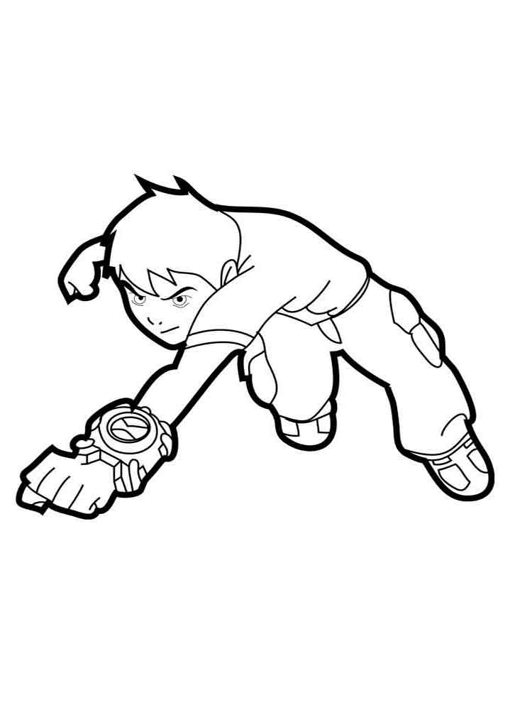 Ben 10 coloring pages. Download and print Ben 10 coloring