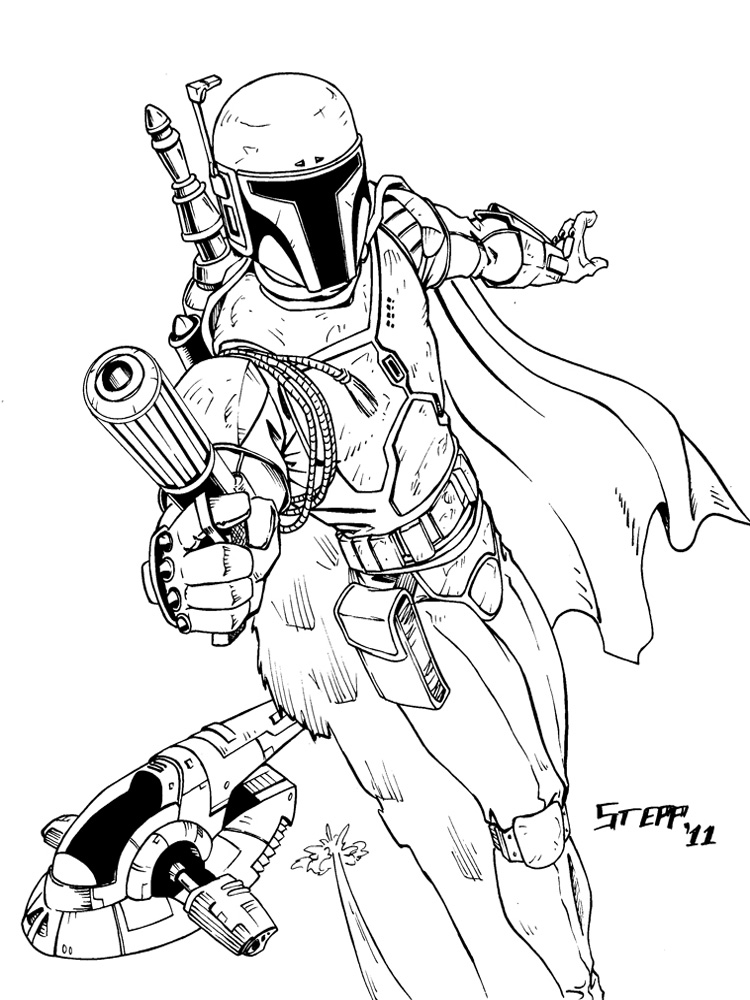 boba fett coloring pages. free printable boba fett