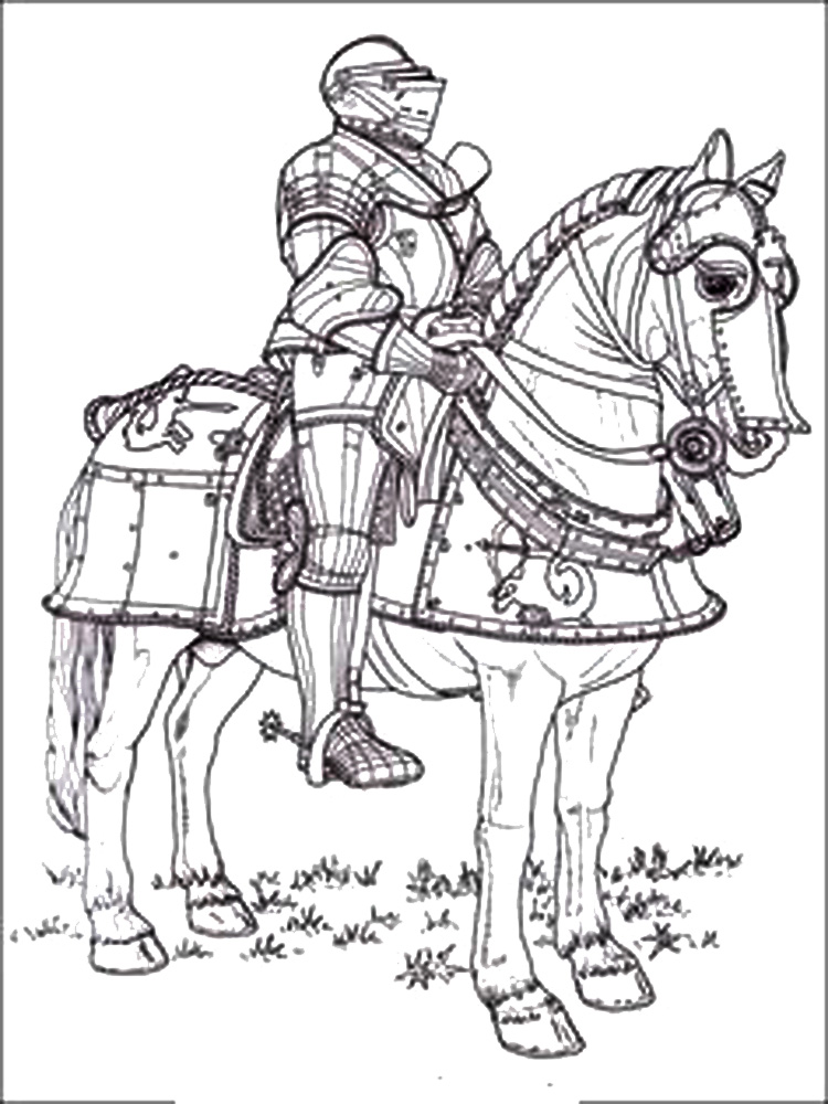 Castles and Knights coloring pages. Free Printable Castles