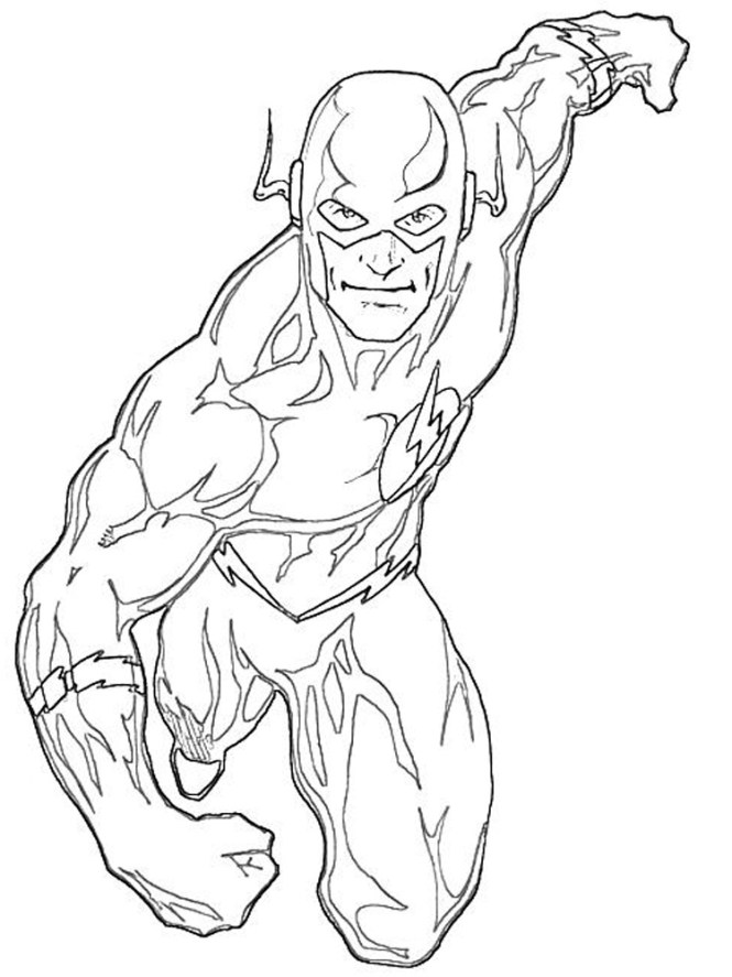 Dc Comics Flash Coloring Pages For Boys 13