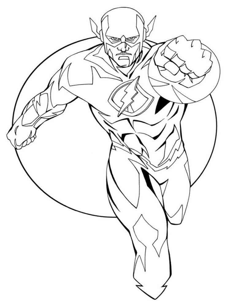 Kid Flash Simbel Superhero Coloring Pages