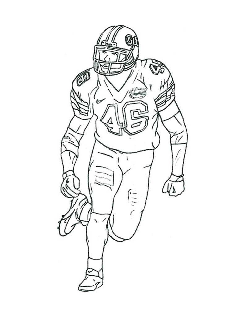 Football Player coloring pages. Free Printable Football