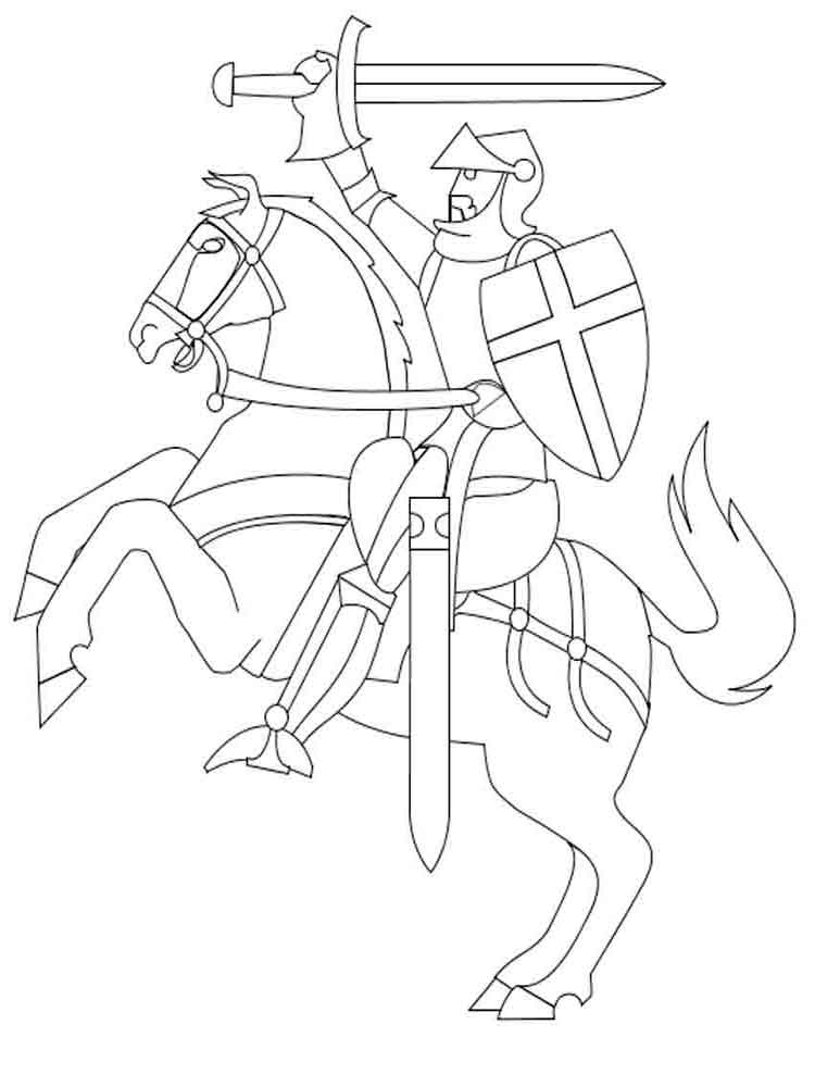 Knights coloring pages. Download and print knights