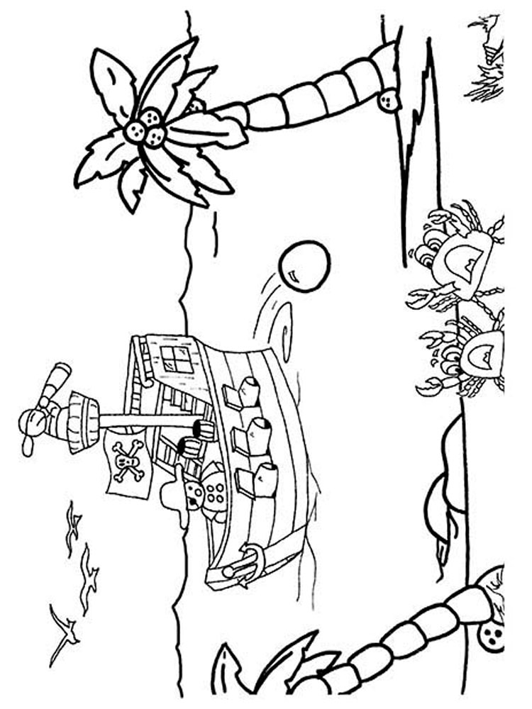 Pirate Ship Coloring Pages Free Printable Pirate Ship