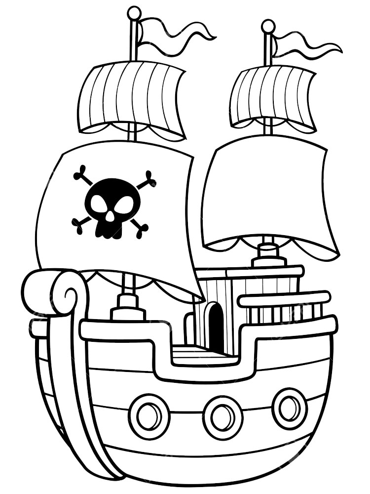 Ship Coloring Pages Pirate Ship Coloring Pages For Boys