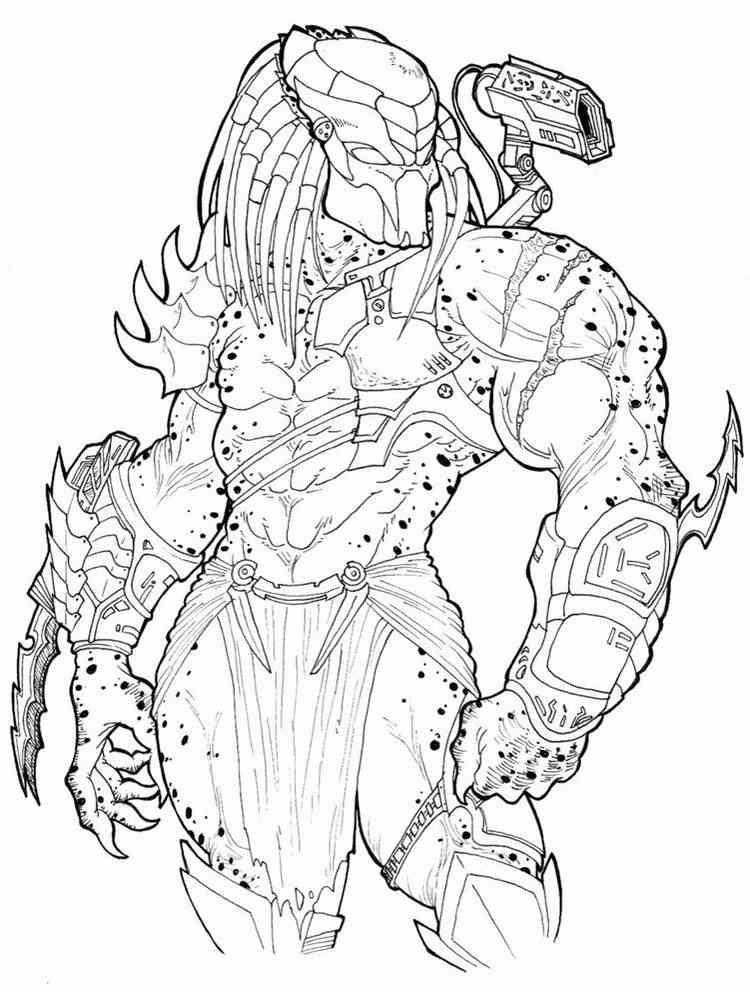 Predator coloring pages. Free Printable Predator coloring