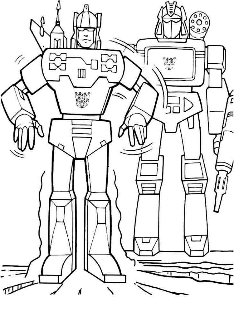 Robots coloring pages. Download and print robots coloring