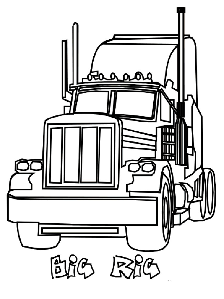 Semi Truck coloring pages. Free Printable Semi Truck