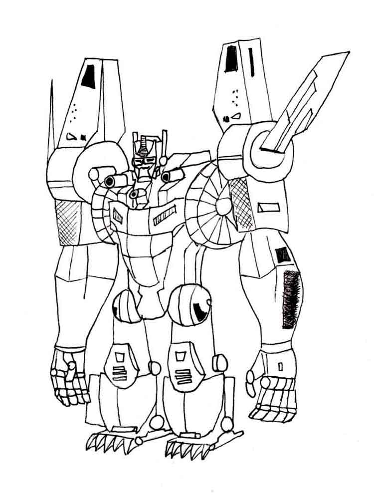 Transformers coloring pages Download and print