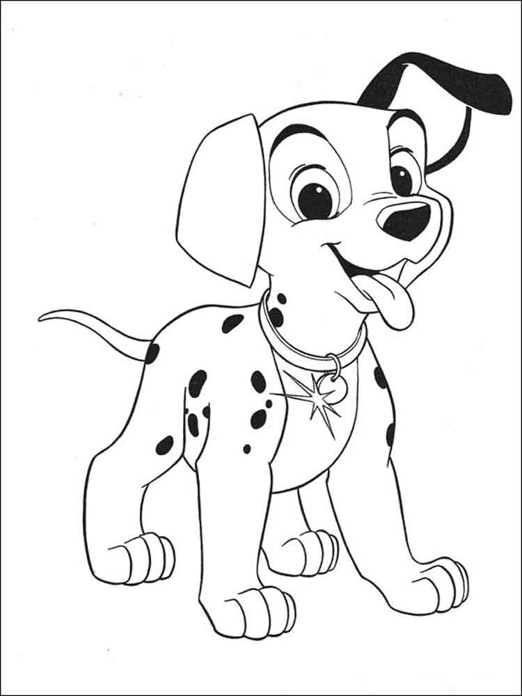 101 Dalmatians coloring pages. Download and print 101