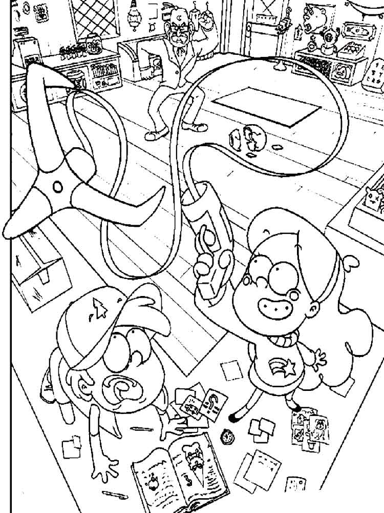 Gravity Falls coloring pages. Free Printable Gravity Falls
