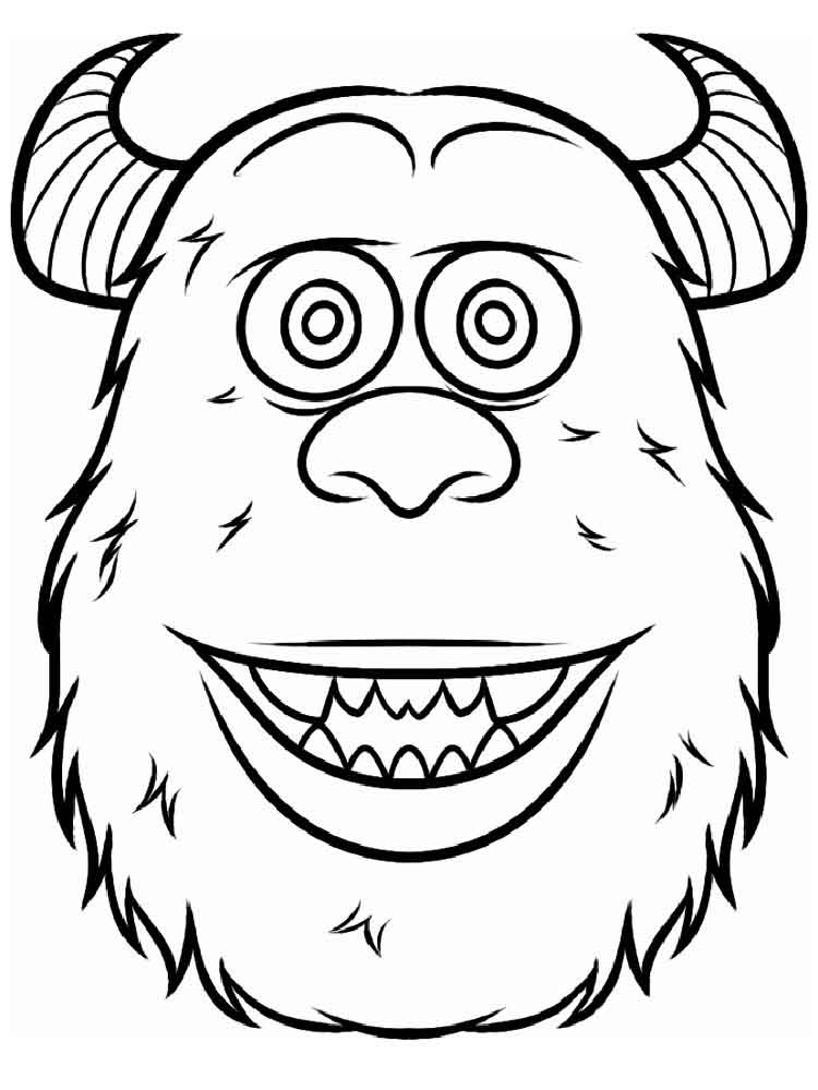 Monsters, inc. coloring pages. Download and print Monsters