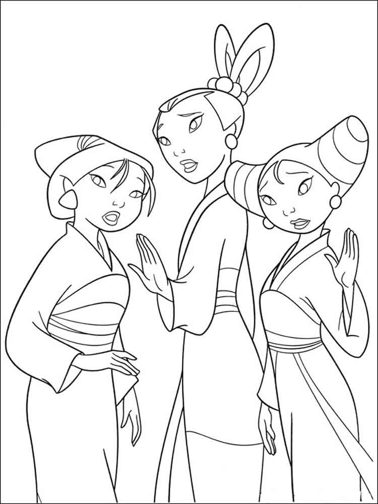 Mulan coloring pages. Download and print Mulan coloring pages