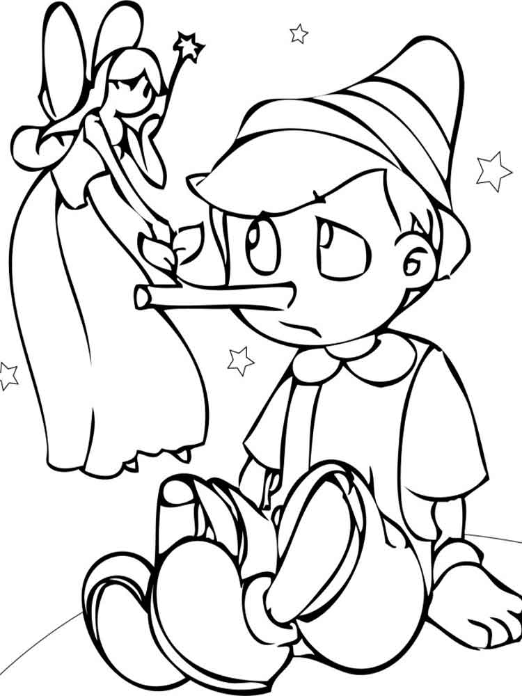 Pinocchio coloring pages. Download and print Pinocchio