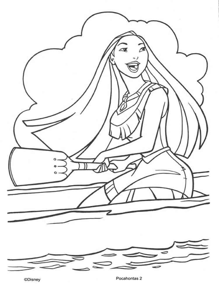 Pocahontas coloring pages. Download and print Pocahontas
