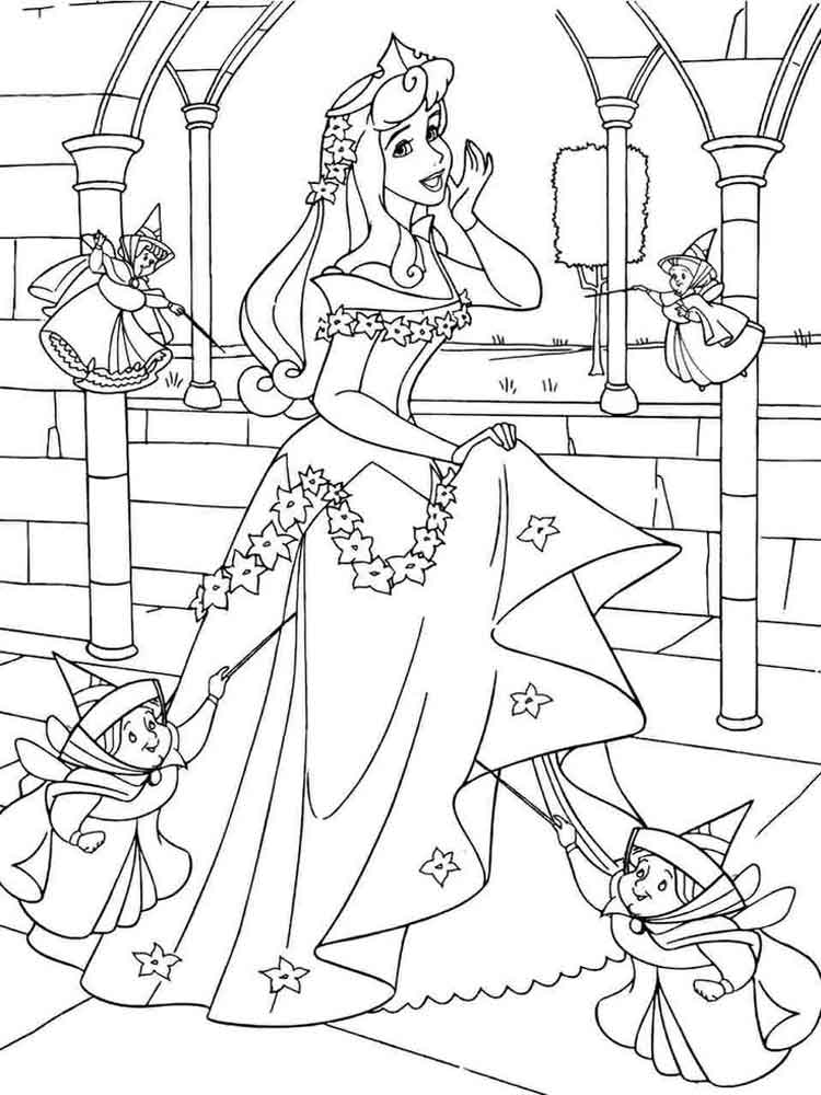 Sleeping Beauty coloring pages. Download and print