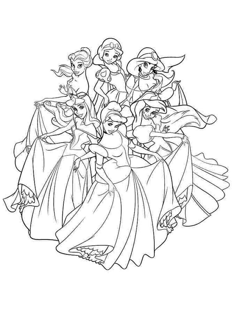 Disney princess coloring pages to print. Free Disney ...   free printable coloring pages disney princesses