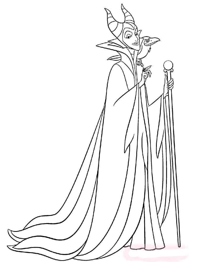 Sleeping Beauty Dragon Coloring Pages