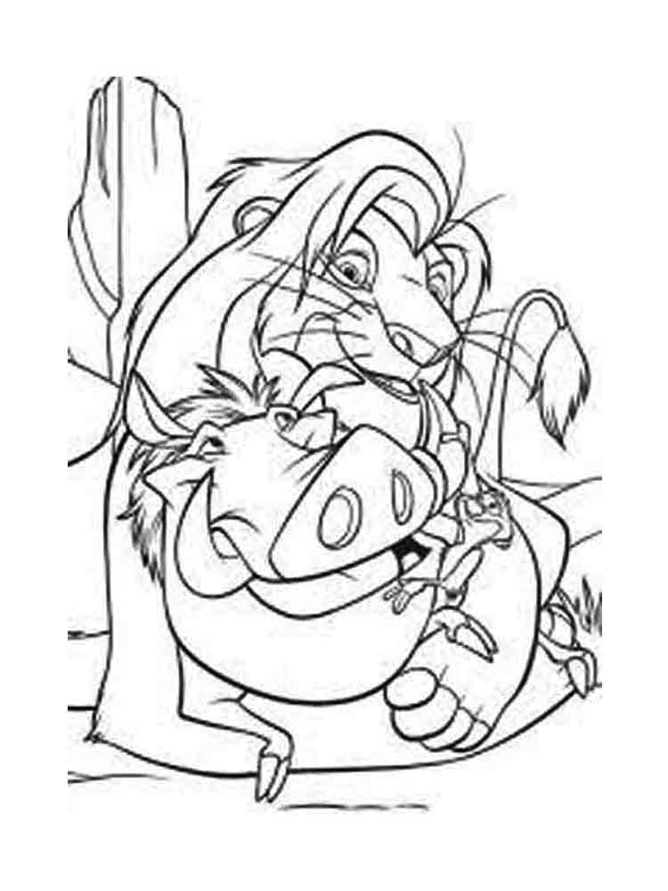 The Lion King coloring pages. Download and print The Lion