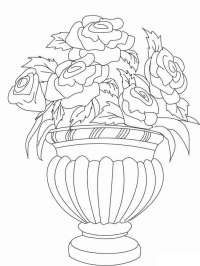 Flowers in a Vase coloring pages. Download and print ...